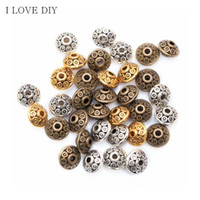 Wholesale Bead Cap Jewelry - Wholesale-3 Colors 100Pcs Mixed Tibetan Silver Spacer Beads Fashion DIY Beads For Jewelry Making Bracelet