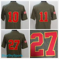 Compra Alex Smith-Hombres # 27 Kareem Hunt Jersey # 10 Tyreek Hill # 11 <b>Alex Smith</b> Olive Salute a servicio Limited Jerseys Tamaño S-3XL