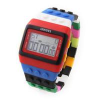 Wholesale Shhors Led - 20pcs fashion Women Men SHHORS Digital Watch Jelly Rainbow LED Light Unisex Watches Wristwatch Clock free shipping