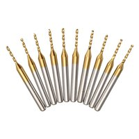 Wholesale Coated Pcb - 10pcs 1 8 Inch Shank 1.2mm Drill Bit Titanium Coated PCB Drill