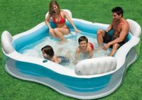 Wholesale Swimming Paddling Pools - Backrest Seat Paddling Pool Huge Family Swimming Pool Children Sea Pool