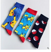 Calze Donna Unisex Poke Ball Comic Pikachu Calze Calze Monster Tascabili Squirtle Charmander Calze Calze Calzini Cotone Calze Calcio