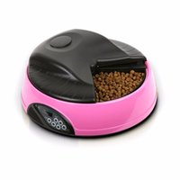 Wholesale Hot Food Dispenser - 4 Meals Automatic Pet Feeder Food Trays Bowl Dispenser Setting Fixed Time Non-toxic Container Recording Reminders Hot New