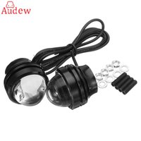 Wholesale Day Light Drl - 2Pcs High Power Car Golden Eye LED Fog Light DRL Lamps Day Running Light Yellow Blue