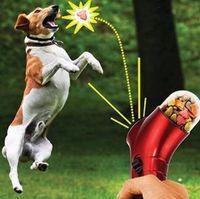 Wholesale Interactive Dog Food Toys - 100pcs Pet Treat Launcher Pets Food Spray Gun Pet Feeding Catapult Gun Dogs Cats Outdoor Interactive Toy