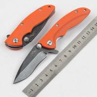 mini outils d'extérieur achat en gros de-Hot tactiques survie mini couteau pliant D2 acier camping couteaux de poche G10 poignée chasse en plein air EDC outil Livraison gratuite