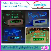 30pcs blaues Licht Timer Digital-Message Board Wecker Temperatur Kalender beste Geschenk für Kinder Wecker Digital-LED YX-LYD-01