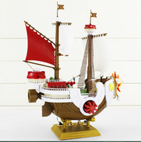 Wholesale One Piece Sunny Pirate - One Piece Thousand Sunny Pirate ship Model PVC Action Figure Toy Best Gift For Children 40*27cm Free Shipping