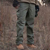 Wholesale Acu Trousers - Wholesale-Mens Loose Windproof Soft Shell Tactical Pants Thermal Fleece Military Sports Casual Tactical Trousers Waterproof CP ACU XXXL