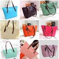 Wholesale Large Leather Tote Bags Wholesale - New 2017 Fashion Vintage European and American Women Handbags Leather Criss-cross Shoulder Bag Medium Ladies Casual Tote Large Capacity