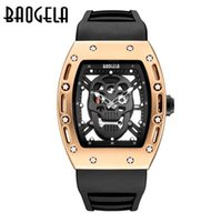 Wholesale Silicon Watch Brand - Factory Maker Luxury Fashion 9 color New Men Sports Watch Waterproof Pirate Skull Style Quartz men Watches Brand 2017 Skeleton Watch silicon
