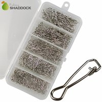 Wholesale 260pcs set Fishing Hooked Snaps Pin Connector Stainless Steel Fishing Hook Snap Clips Connector Set With Box
