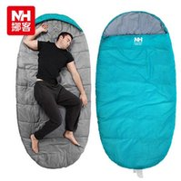 Wholesale outdoor high quality large blue sleeping bag outdoors tourism sleep bag plus size camping sleep pad Euro standard