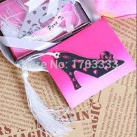 Wholesale Wedding Favors High Heel Shoe - 200pcs lot High Heel Shoe Bookmark Wedding Bridal Shower Favors DHL Fedex Free Shipping