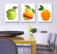 Wholesale Fruit Framed Art - Beautiful Fruit Art Picture Giclee Print On Canvas Home Wall Decoration Set30038