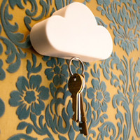 Wholesale Magnet Gadgets - Magnetic Cloud Keyholder Storage Device Anti Lost Key Creative Gadgets Strong NdFeB Magnets N40 3M Sticker