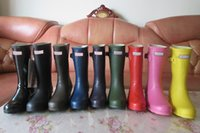 Wholesale Hunter Rain Boots Glossy Red - 2017 HUNTER SHORT BOOTS WOMEN WELLIES RAINBOOTS MS. GLOSSY WELLINGTON RAIN BOOTS WELLINGTON KNEE LONG BOOTS COLD-RESISTANT COMFORTABLE SHOES