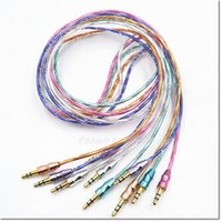 Wholesale Iphone Ft Cable - hot selling aux auxiliary car audio cable 1m 3 ft male to male for iphone samsung HTC honor to speaker with 5 colors for choose DHL free