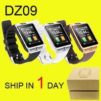 бесплатная регистрация оптовых-DZ09 Смарт-часы GT08 U8 A1 Wrisbrand Android iPhone iwatch Смарт-SIM Интеллектуальные часы для мобильного телефона могут записывать сон DHL Free OTH110