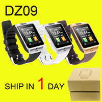 Wholesale Russian Mobile Phones - DZ09 Smart Watch GT08 U8 A1 Wrisbrand Android iPhone iwatch Smart SIM Intelligent mobile phone watch can record the sleep DHL Free OTH110