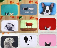 Wholesale Dog Online - 40*60cm Dog Series Bath Mats Anti-Slip Rugs Coral Fleece Carpet For For Bathroom Bedroom Doormat Online