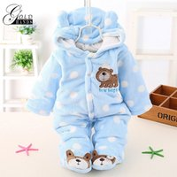 Wholesale Jumpsuit Winter Padded - Gold Hands Baby Winter Romper Padded Thicken Newborn Baby Girl Warm Jumpsuit Autumn Fashion baby's Wear Kid Climbing Clothes