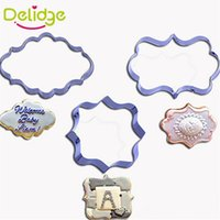 Wholesale Pictures Ceramic - Wholesale- 1 pcs European Style Picture Frame Cookie Cutter Stainless Steel Photo Frame Shape Cookie Mold 3 Shapes Mousse Ring Baking Molds
