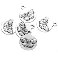 Wholesale Butterfly Findings - 200 pcs butterfly Charms pendant Antique Silver Tone good for DIY craft jewerlry finding free shpping