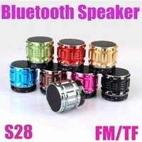 Wholesale Laptop Stand Free Shipping - Mini Wireless Bluetooth Speaker S28 Portable Music Player Stereo For Samsung HTC Smart Phones Laptop Free Shipping