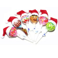 Wholesale Hot Mini Top Hat - 2016 New Arrival Mini Santa Claus Hat Christmas Xmas Holiday Lollipop Top Topper Decor Hot