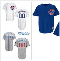 Men order customized shirts - Cheap New Chicago Cubs Personalized Home Jersey Customized Baseball Shirt Top Quality Mix Order