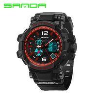 Wholesale Diving Analog Sports Watch - SANDA Digital diving luminous watches Men Sport Watches Fashion Military Clock Shock Analog Quartz Watch Relogio Masculino