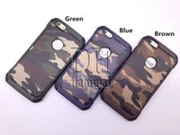 Wholesale Wholesale Camouflage Iphone Cover - Army Camouflage Case Luxury Hybird Armor Shockproof Cover For iPhone 6 7 8 Plus X Galaxy S7 Edge Note8 S8 Plus J7 DHL