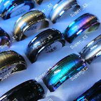 erkekler için opal mücevherat toptan satış-Moda Yeni Kedi-göz Opal Paslanmaz Çelik Yüzük Kadın Erkek Takı Için Tüm Toplu LR041 Ücretsiz Nakliye Paketleri