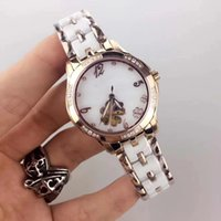 Wholesale watch female mechanical - The top ceramic steel watch female clover clone, equipped with miyota core mechanical gold machine, women show a beautiful colorful Luo.