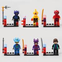 Wholesale Cheapest Set Building Blocks - 480pcs lot Building Blocks Super Heroes Avengers big hero Figures cheap plastic big hero minifigures blocks sets