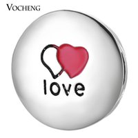 Wholesale Valentine Red Heart - VOCHENG NOOSA Valentines Day Gift Love Story 18mm Heart Ginger Snap Jewelry Vn-1008