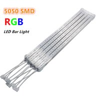 Wholesale Kitchen Cabinet Strip Led - 5pcs* 50cm RGB Led Bar Light 12V SMD 5050 Chip U Aluminum Shell + PC Cover Hard Rigid Led Strip Light Tube Kitchen Cabinet