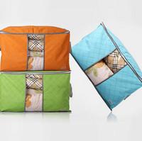 хранение бамбукового древесного угля оптовых-Бамбуковый уголь портативный ящик для хранения одежды организатор одежды чехол для хранения домашнего интерьера одеяло одеяло хранения новый