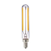 Wholesale T6 Led Light Bulb - Retro LED Filament Bulb,2W 2700K,E12 E14 Base,Edison T20 T6 Tubular Style,Decorative Household Lights,Dimmable