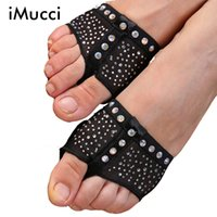Wholesale Professional Belly Dance Shoes - Wholesale-Diamond Professional Belly Ballet Dance Toe Pad Practice Shoes Foot Thongs Protection Dance Paws Costume Gaiters Accessories