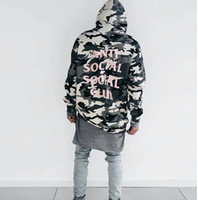 Wholesale kanye ANTI SOCIAL SOCIAL CLUB The Snow Camo Sweatshirts Drawstring Men And Women Hoodies Brand Clothing