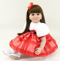 "Wholesale China Comic Dress - 22"" Adora Toddler Reborn Doll Gifts Toddler Baby Dolls Girls Brthday Gift Princess Dolls Toys in Lovely Lace Doll Dress"