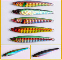 Wholesale Metal Lures Stainless Steel - New 3D Eyes Artificial bait fishing attract big fish 36g 8.8cm Stainless Steel Metal Jigs Iron blackfish Culter Mandarin lures