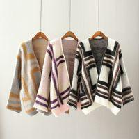 Wholesale Western Winter Coats Women - Wholesale- New Western Ethnic Totem Juaquard Autumn Winter Cardigan Full Sleeve Loose Casual Knitted Batwing Women Poncho Sweater Coat
