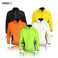 Wholesale Wind Vest Xl - WOSAWE Windproof Cycling Jerseys Men Women Riding Waterproof Cycle Clothing Bike Long Sleeve Jerseys Sleeveless Vest Wind Coat