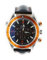 Wholesale Sport Watch Binary - Luxury Men's Sport Wrist Planet Ocean XL Chronograph Stainless Steel Watch Genuine Leather Watches
