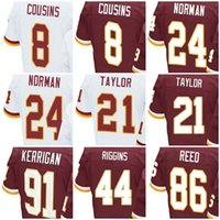 Wholesale Free Games 21 - Free Shipping Women And Youth Game Jerseys 8 Kirk Cousins 21 Sean Taylor 24 Josh Norman 44 John Riggins 86 Reed Best 100% Stitched Kids