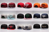 Wholesale Solid Gold Diamonds - Hot Five 5 Panel Diamond Snapback Caps Hip Hop Hat Cap Bone Baseball Caps Flat Hats Casquette Gorras Planas Bone Aba Reta Toca Adjustable
