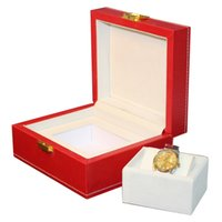 Wholesale Cajas Para Relojes - Luxury big 20x17.2x9.5cm red leather watch box display case Jewelry hour box display box promotion, May customize cajas regalo para relojes